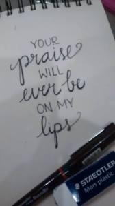 handlettering praise